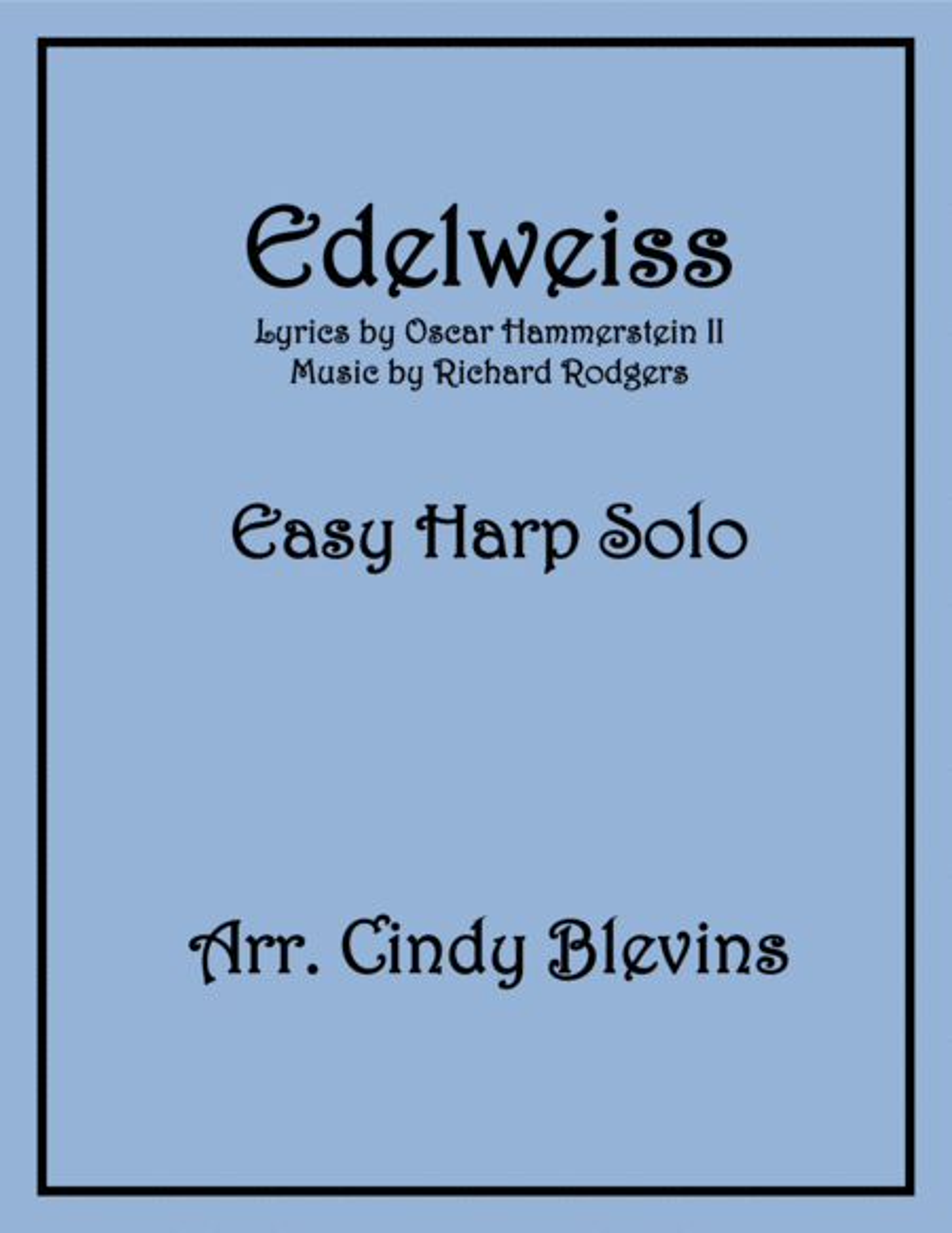 Edelweiss, arranged for Easy Harp