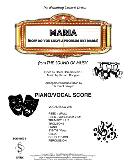 Maria - PIANO/VOCAL SCORE