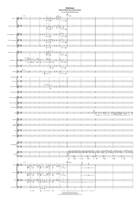 Hallelujah Score and parts for full orchestra, soloist and choir.