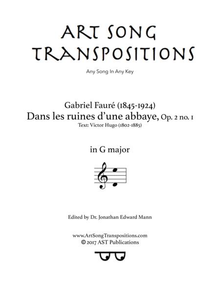 Dans les ruines d'une abbaye, Op. 2 no. 1 (G major)