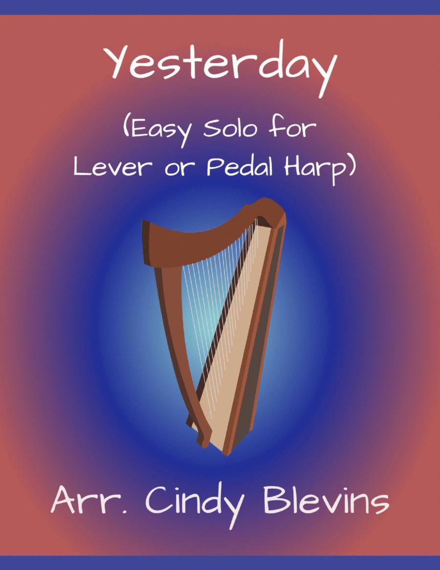 Yesterday, arranged for Easy Harp