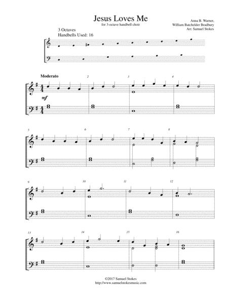 Jesus Loves Me - for 3-octave handbell choir