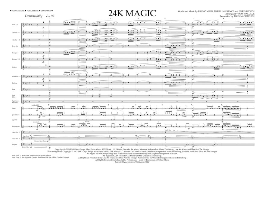 24K Magic - Full Score