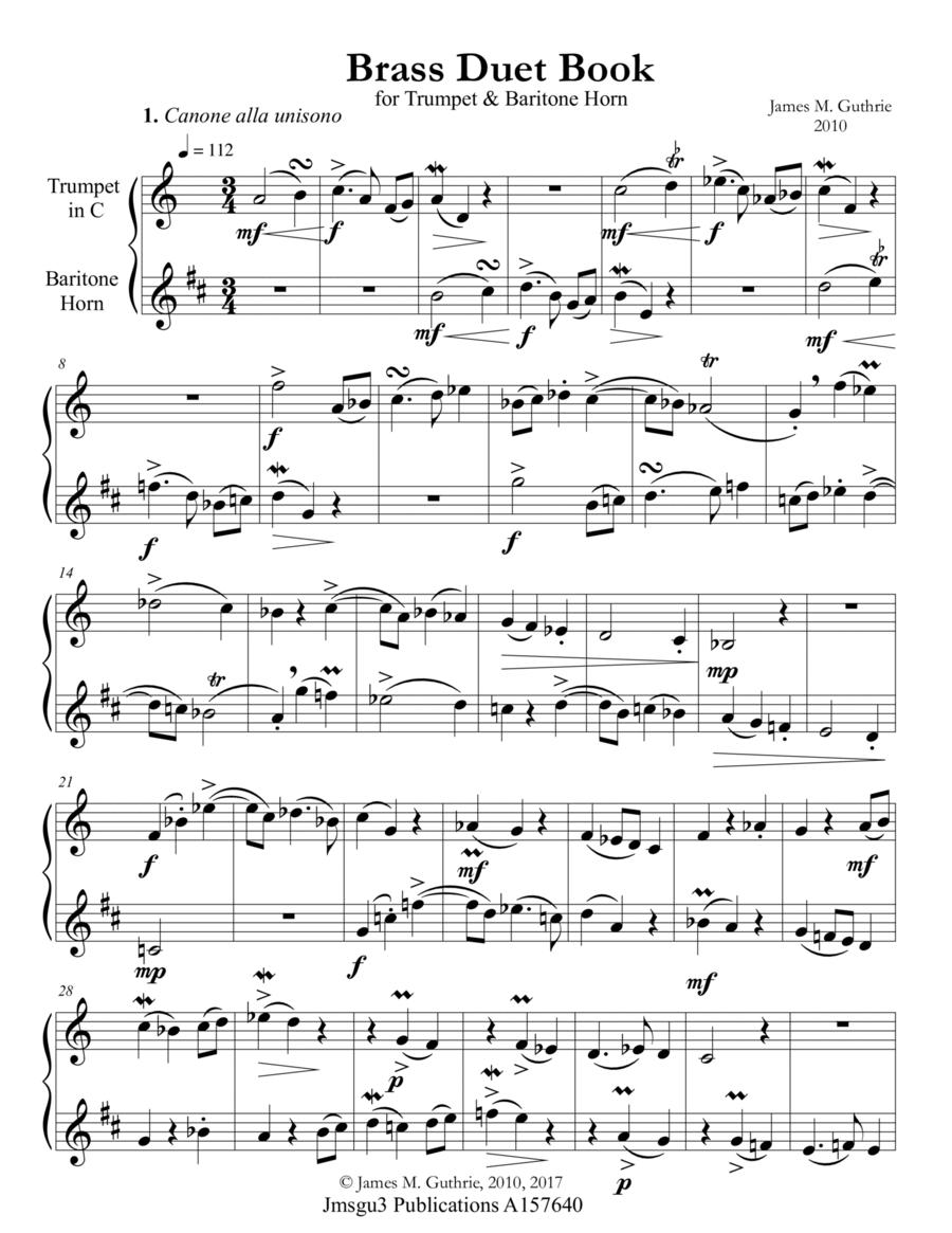 Guthrie: Brass Duet Book for Trumpet & Baritone Horn (TC)