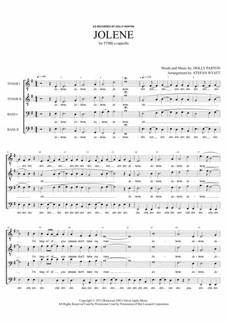 Jolene - TTBB a cappella
