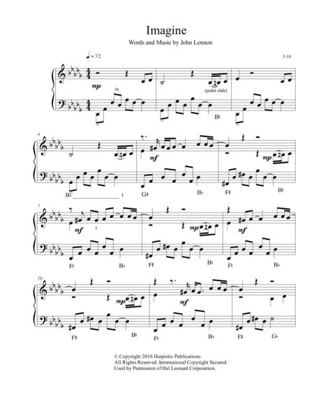 Imagine for pedal harp