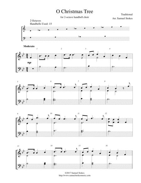 O Christmas Tree - for 2-octave handbell choir