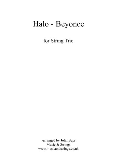 Halo by Beyonce arranged for String Trio (Violin, Viola & 'Cello)