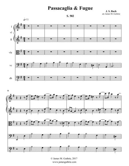 J. S. Bach: Passacaglia & Fugue S 582
