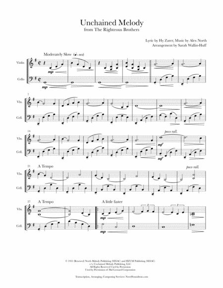 Unchained Melody (Violin/Cello Duo)