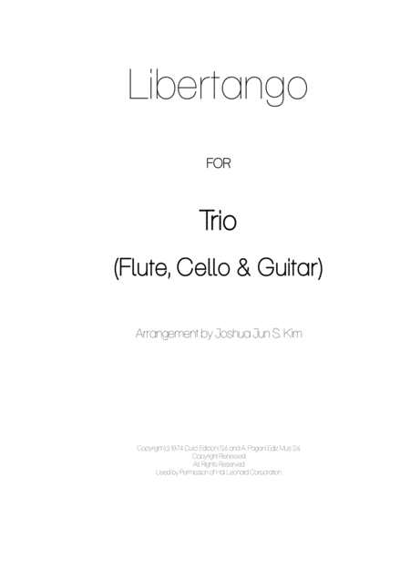 Libertango for Trio (flute, cello and guitar)