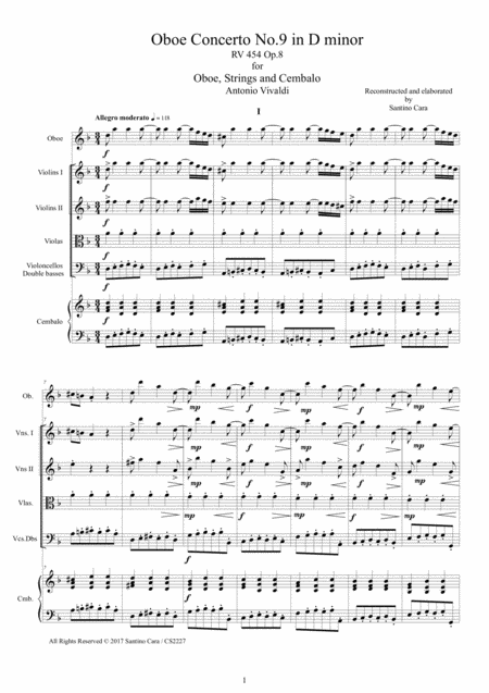 Vivaldi - Oboe Concerto No.9 in D minor RV 454 Op.8 for Oboe, Strings and Cembalo