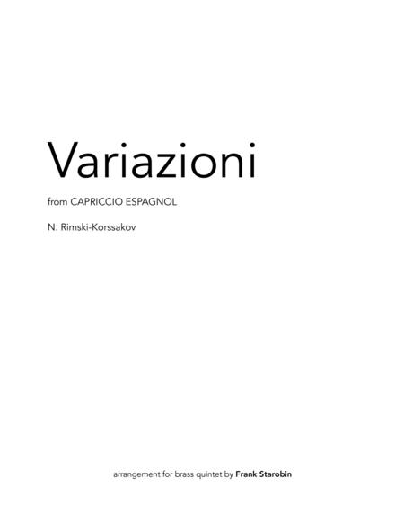 Variazioni from Capriccio Espagnol for Brass Quintet