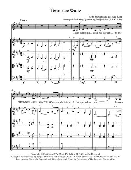Tennessee Waltz (arranged for String Quartet)