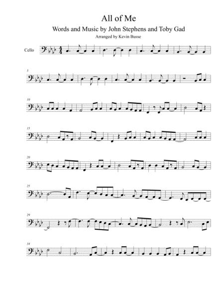 All Of Me - Cello