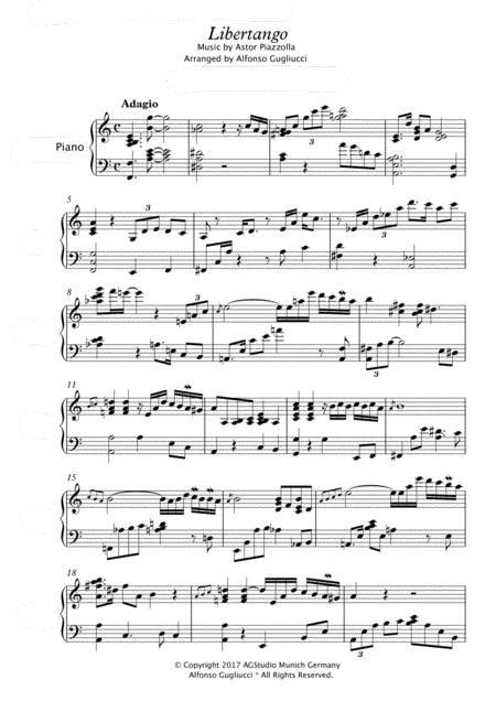 Libertango Jazz Piano
