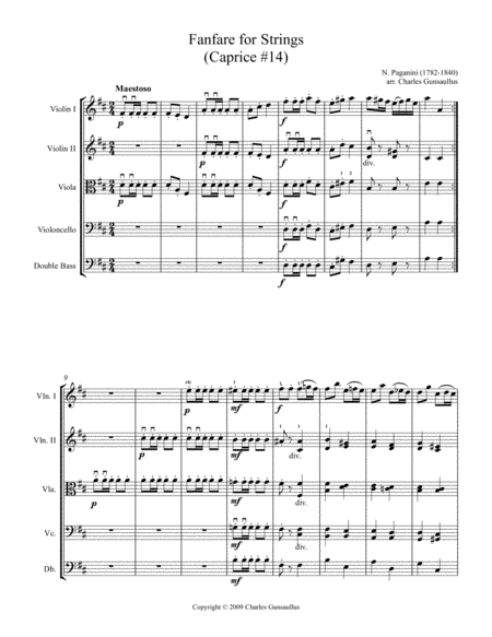 Fanfare for Strings (Caprice #14)