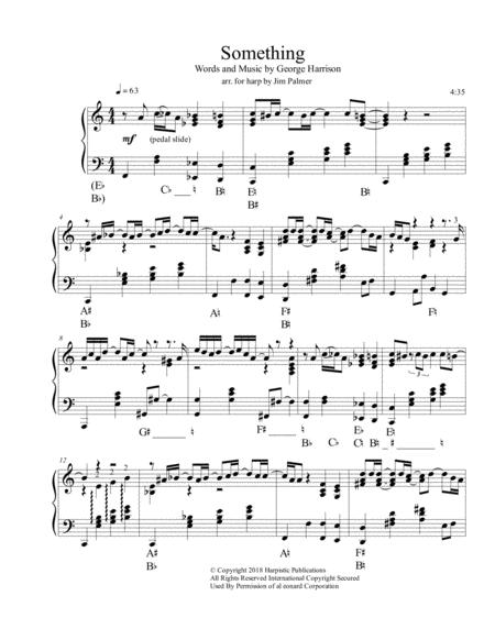 Something for pedal harp