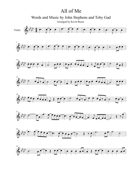 All Of Me - Violin
