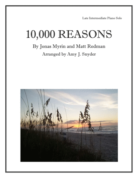10,000 Reasons (Bless The Lord), piano solo
