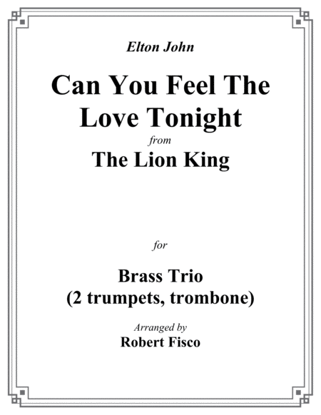 Can You Feel The Love Tonight (From