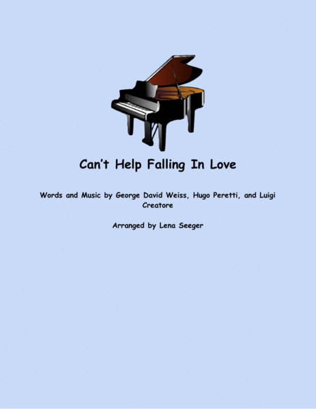 Can't Help Falling In Love (Alto Sax and Piano)