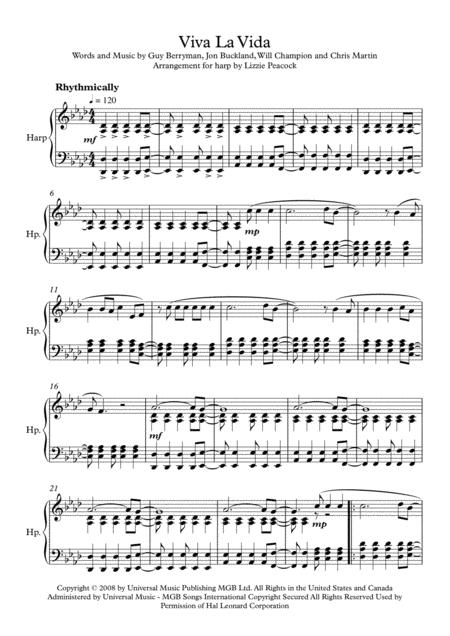 Viva La Vida - Harp Solo