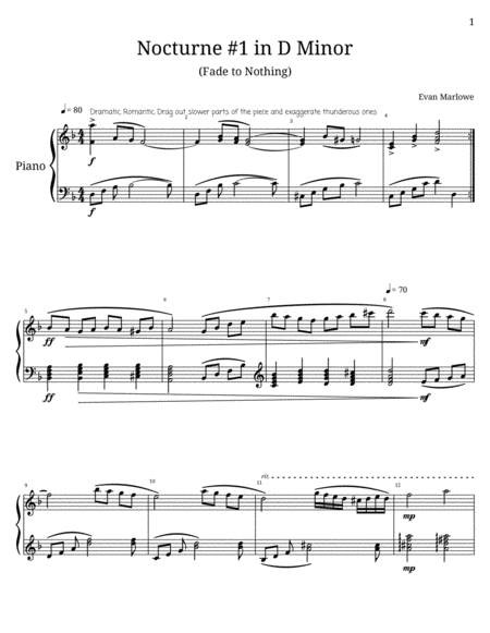 Nocturne No.1 in D Minor(Fade to Nothing)