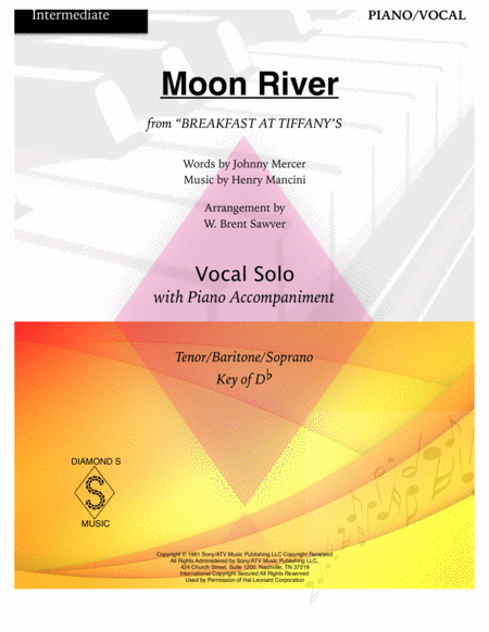 Moon River - VOCAL/PIANO (key of Db)