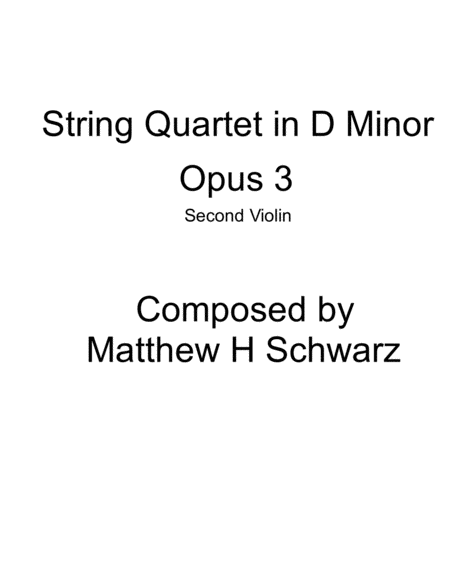 String Quartet 1 in D Minor - Second Violin