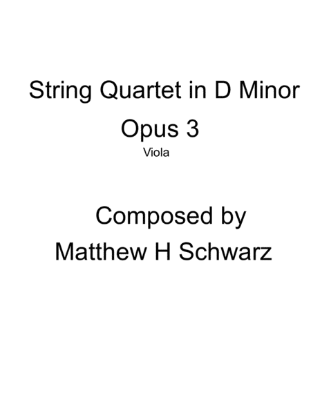 String Quartet 1 in D Minor - viola