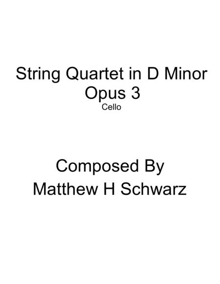 String Quartet 1 in D Minor - Cello