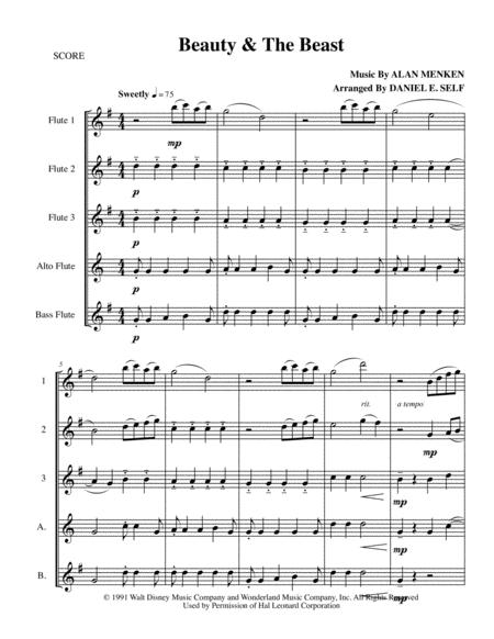 Beauty And The Beast (Flute Choir)