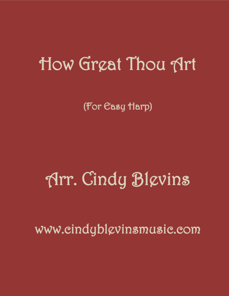 How Great Thou Art, arranged for Easy Harp  (Lap Harp Friendly), from my book