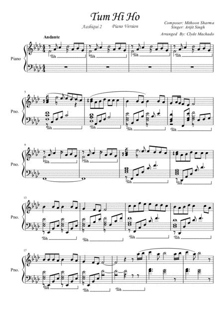 Tum Hi Ho Aashiqui 2 Piano