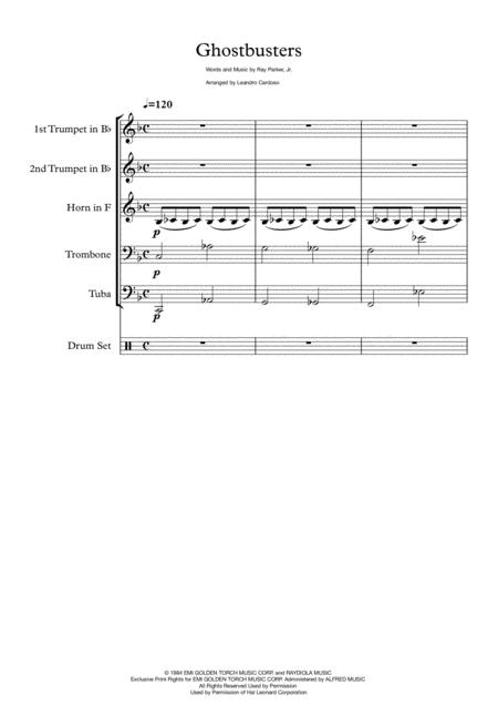 Ghostbusters - Brass Quintet