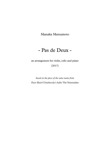 The Nutcracker - Pas De Deux (arr. for violin, cello and piano)