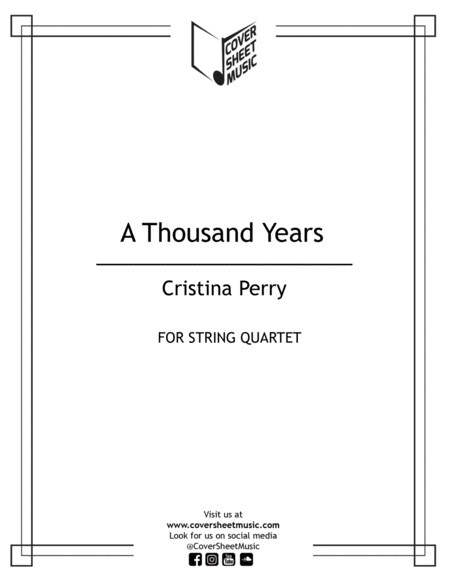 A Thousand Years String Quartet