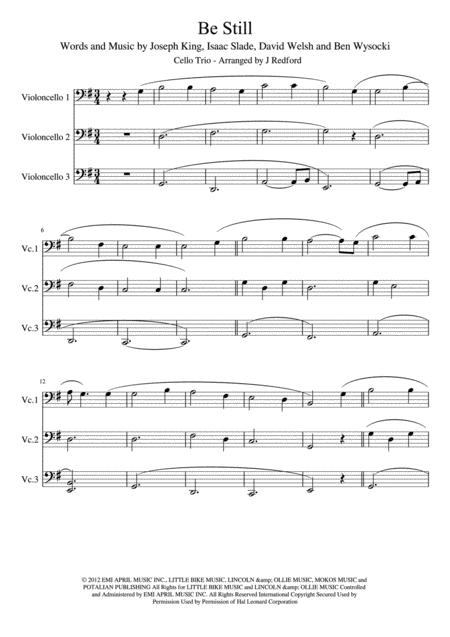 Be Still, for cello trio