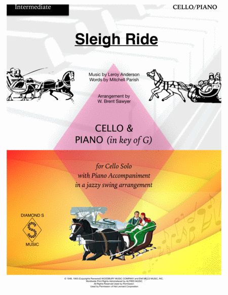 Sleigh Ride - Cello Solo with Piano