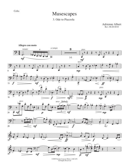 ODE TO PIAZZOLLA for Piano Trio