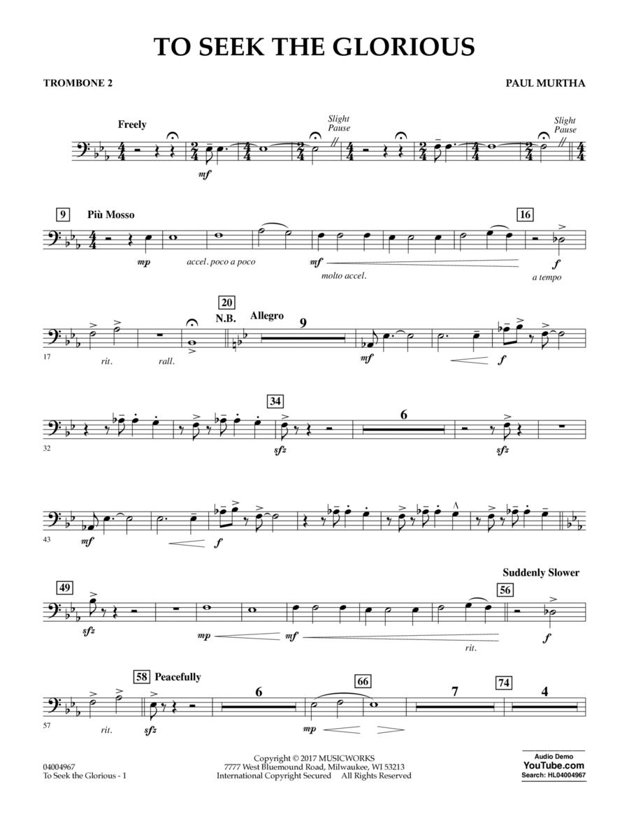 To Seek the Glorious - Trombone 2