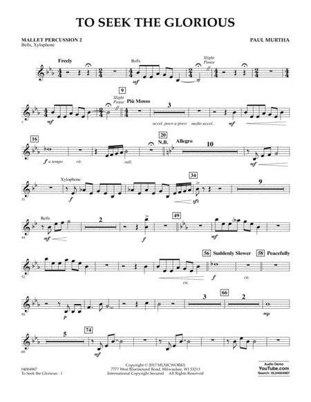 To Seek the Glorious - Mallet Percussion 2