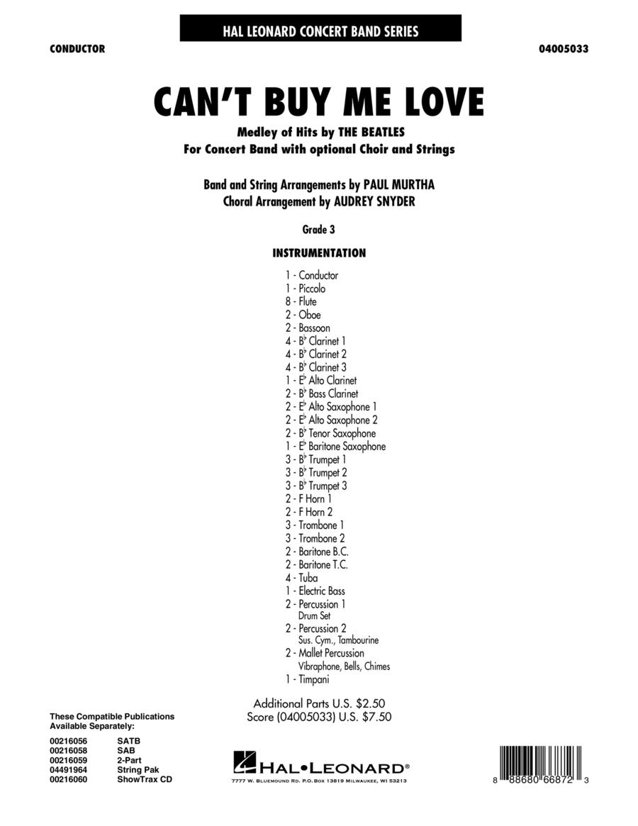 Can't Buy Me Love - Conductor Score (Full Score)