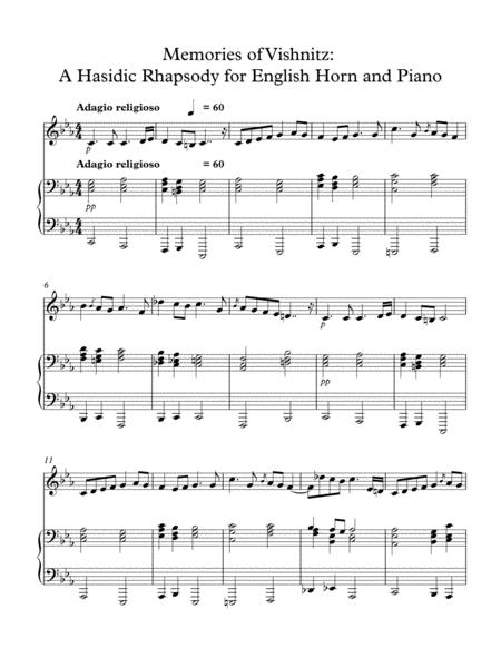 Memories of Vishnitz: A Hasidic Rhapsody for English Horn and Piano