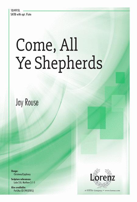 Come, All Ye Shepherds