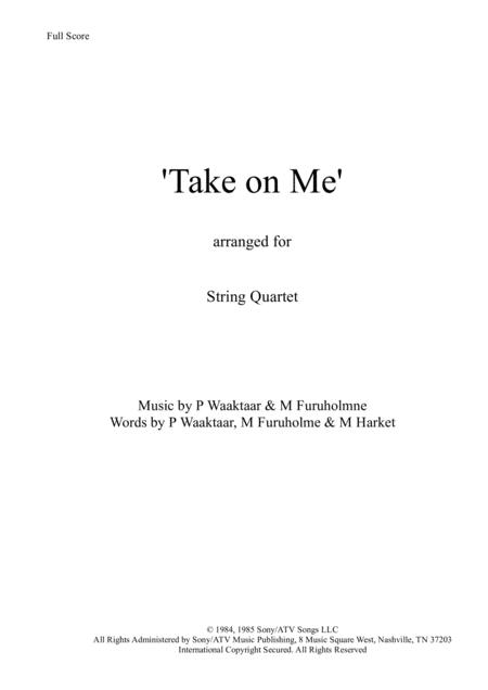 Take On Me - String Quartet