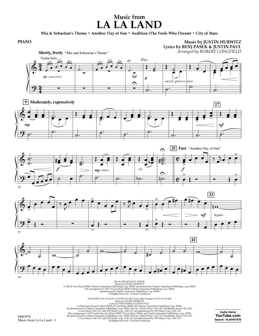 Music from La La Land - Piano