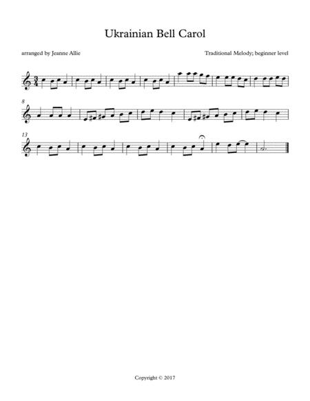 Ukrainian Bell Carol (for beginner level)