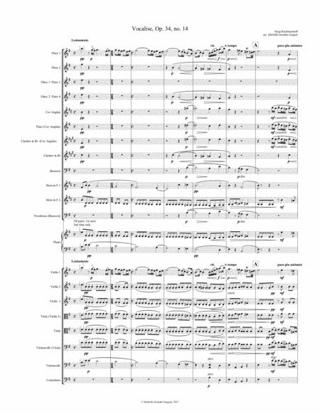 Rachmaninoff - Vocalise  (flex orchestra ensemble)